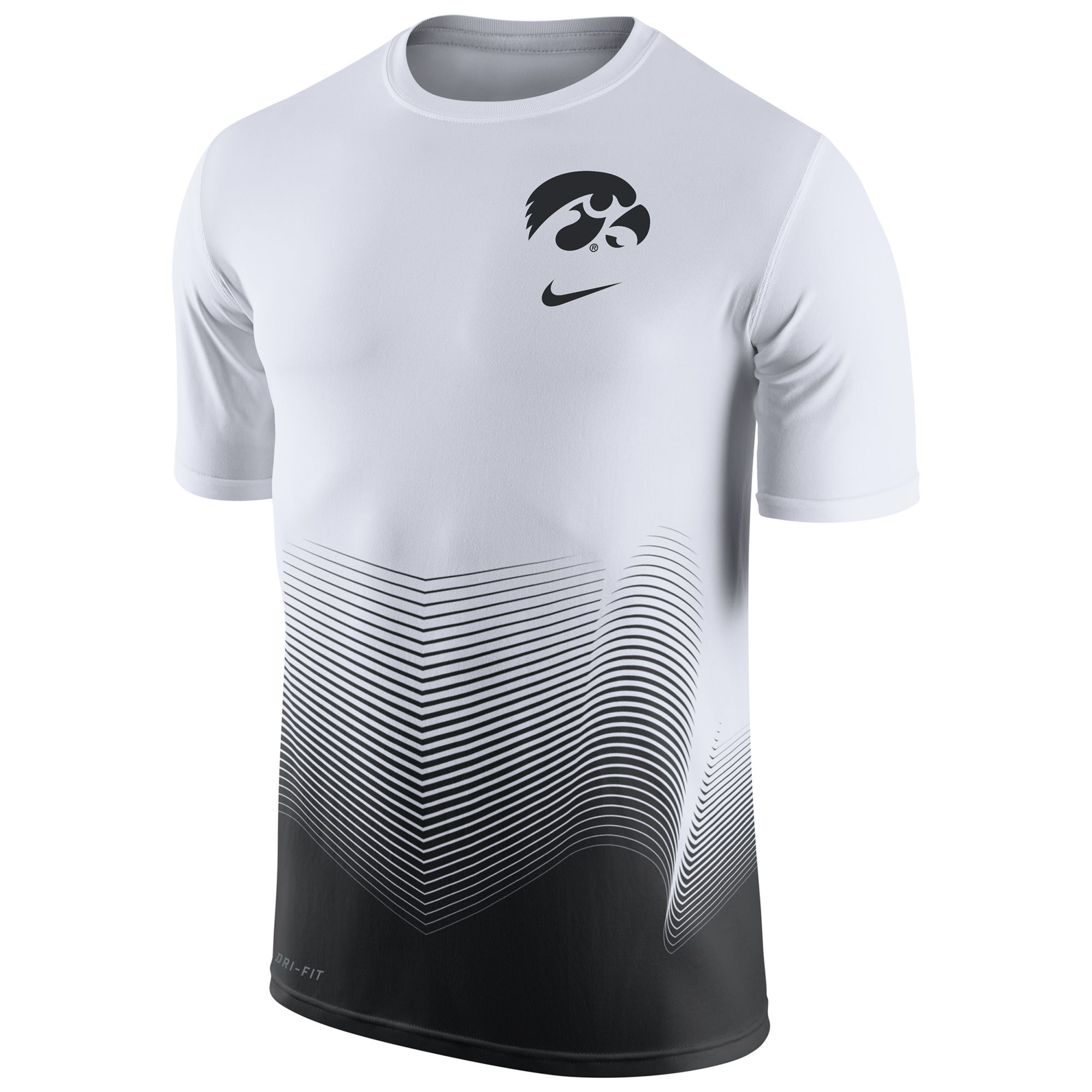 Basquetebol Camisetas · College Iowa Hawkeyes Nike 2016 Basketball  Disruption Player Dri-FIT T-Shirt - White d34c89fe4fb69
