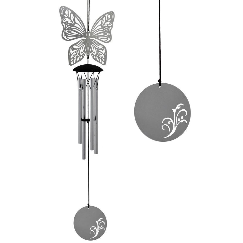 Woodstock Chimes Butterfly Flourish Windchime Wind Chime Garden Ornament