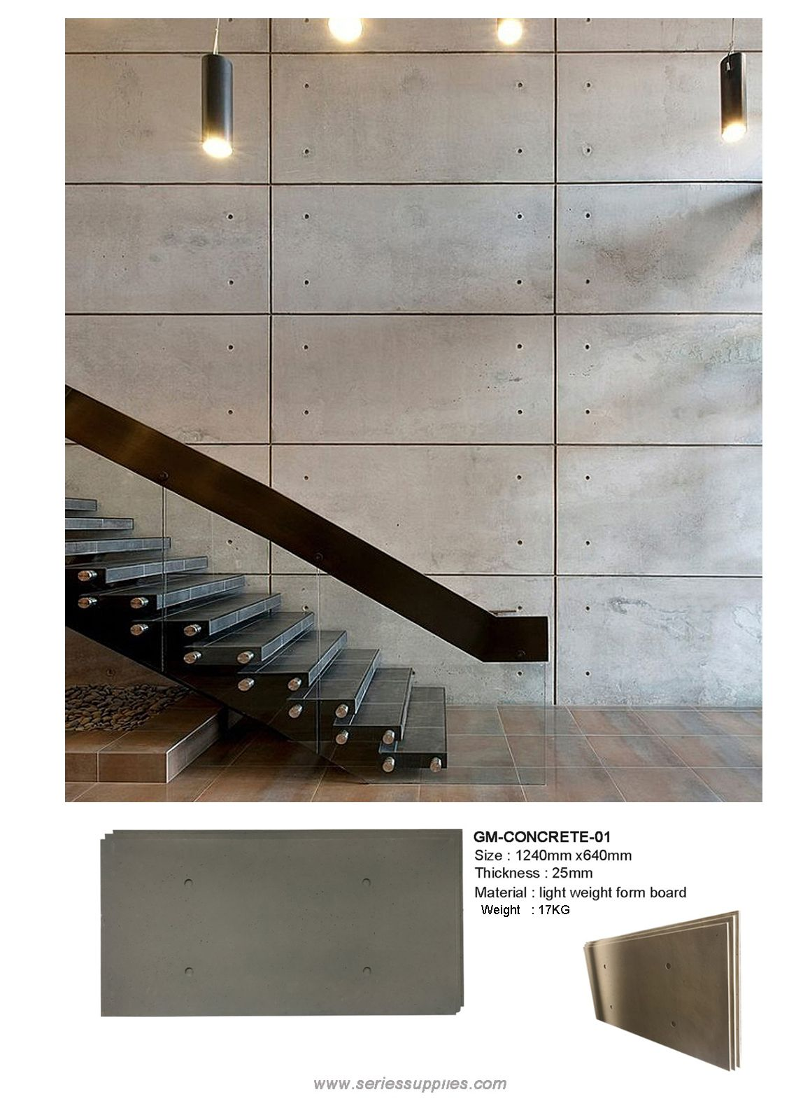 These Faux Concrete Wall Panels Offer The Appearance Of Sturdy Concrete At A Fraction Of Their Concrete Walls Diy Concrete Wall Panels Concrete Walls Interior
