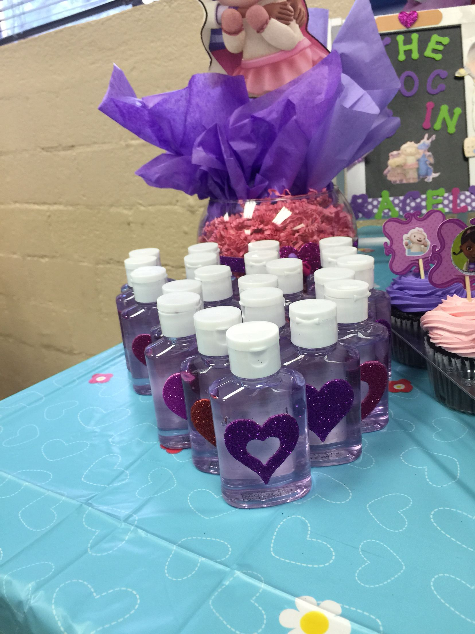 Hand Sanitizers Doc Mcstuffins Birthday Party Doc Mcstuffins