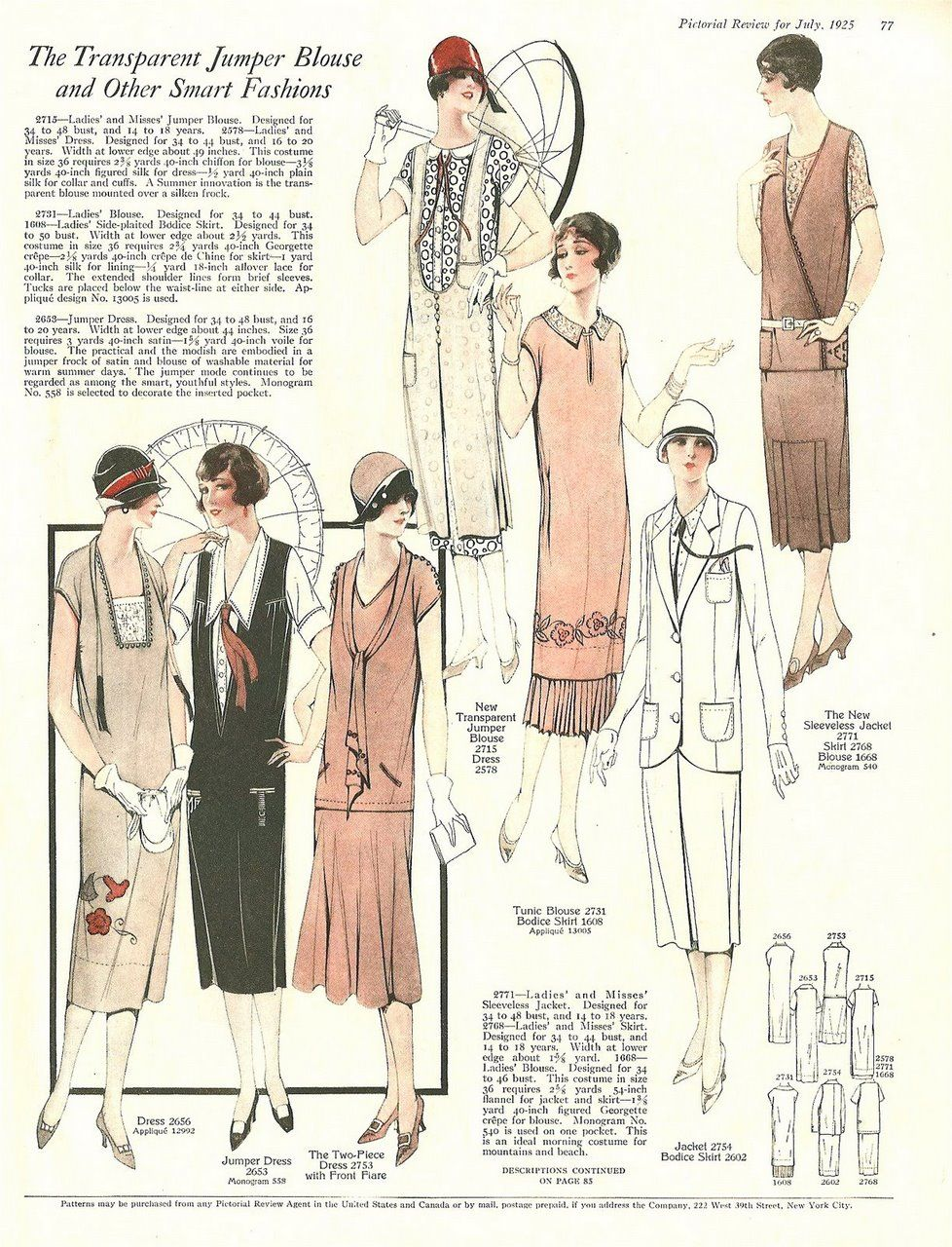 The Pictorial Review July 1925 Summer Frocks And Fashion 5 On