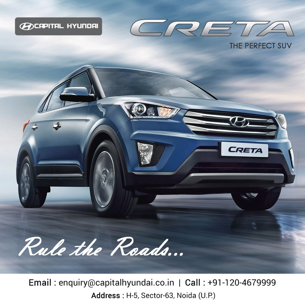 """""""Hyundai Creta Get there and Rule the Roads"""". Visit our"""