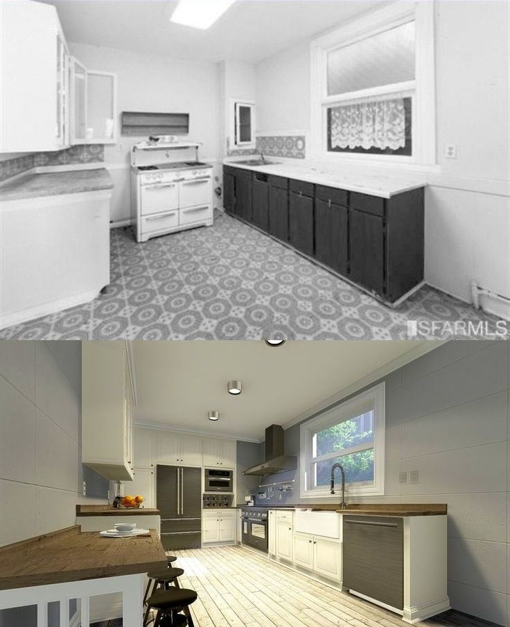 Before And After: Virtual Kitchen Remodel San Francisco In