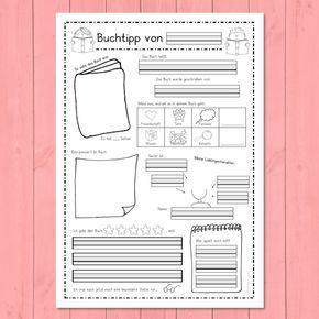 Buchbewertung Buchvorstellung Grundschule 7