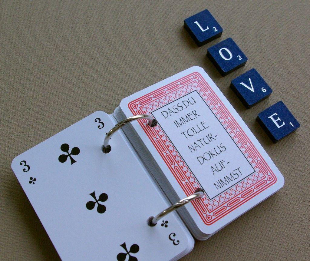 Berühmt 52 Dinge die ich an dir liebe Karten Kartenspiel Valentinstag @KT_97