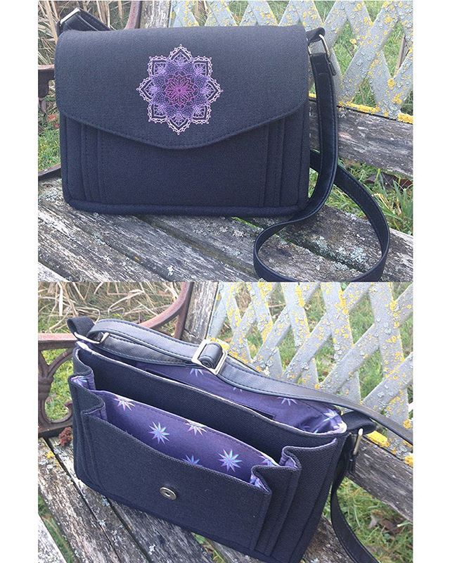Appaloosa Bag with embroidered detailing on the flap! So pretty! Pattern by Sew Sweetness