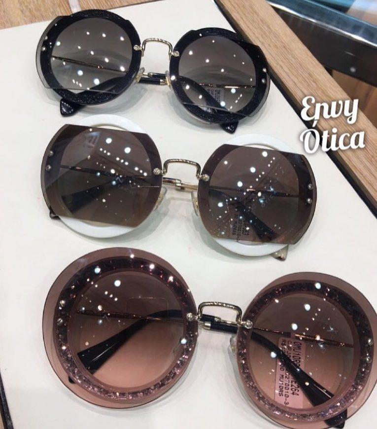be5511407 #envyotica #envyhigienópolis #miumiu #sunnie #Oculos #sunglass #sunglasses  #round #oculos redondo