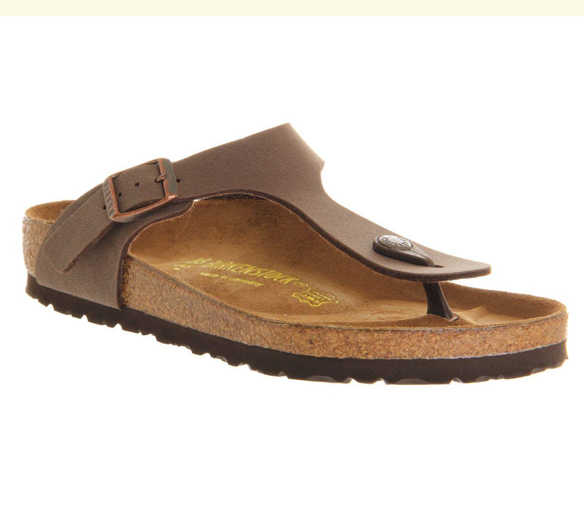 Birkenstock Gizeh Toe Thong Footbed Womens Sandals Brown Moca