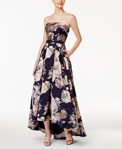 9c822a63 Xscape Floral-Print Brocade Strapless Gown | Dresses part 03 ...