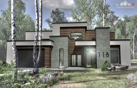 Plan de Maison Moderne Ë_118 Leguë Architecture Elevetion - plan de maison moderne 3d