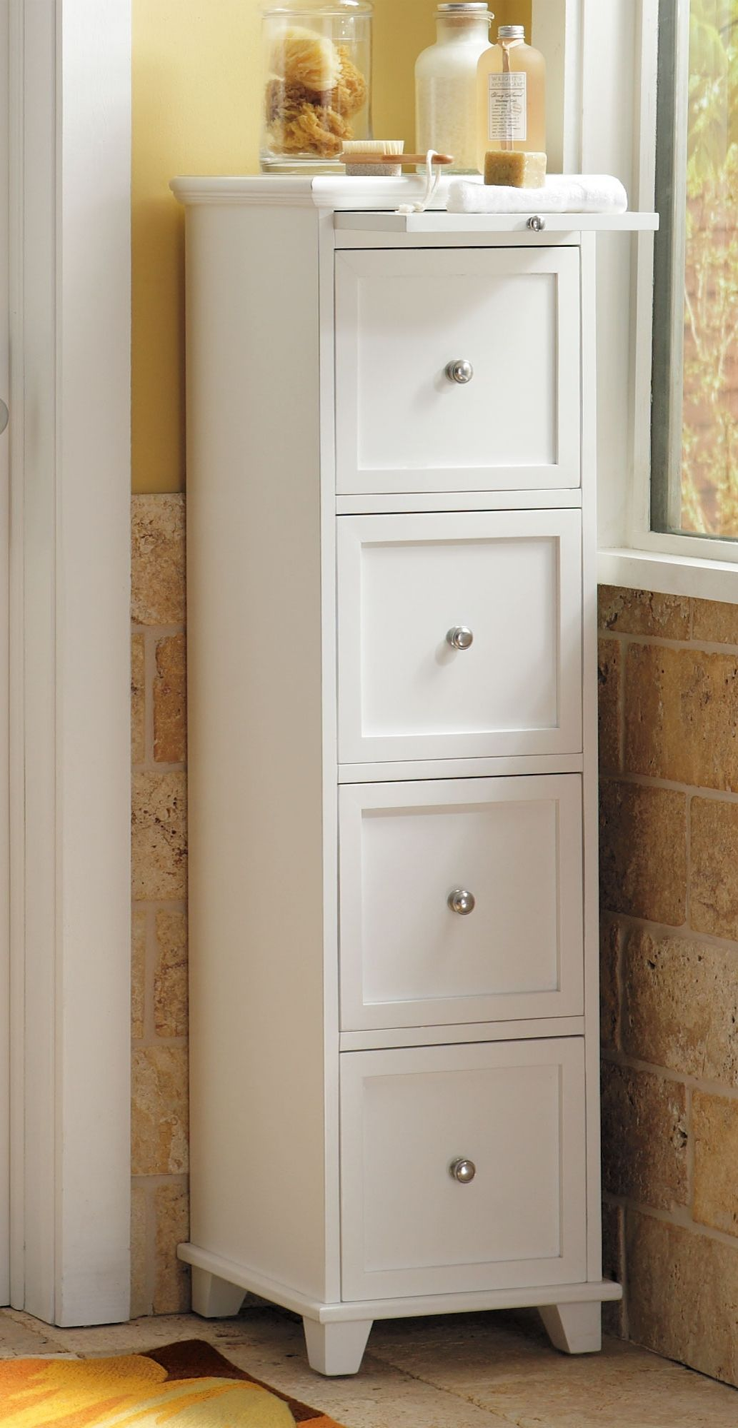 The tall, narrow profile of our Springfield Four-drawer Cabinet ...