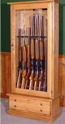 Detailed gun cabinet plans are essential if you want your gun ...