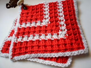 Topflappen Waffelmuster   Häkeln   Crochet patterns ...