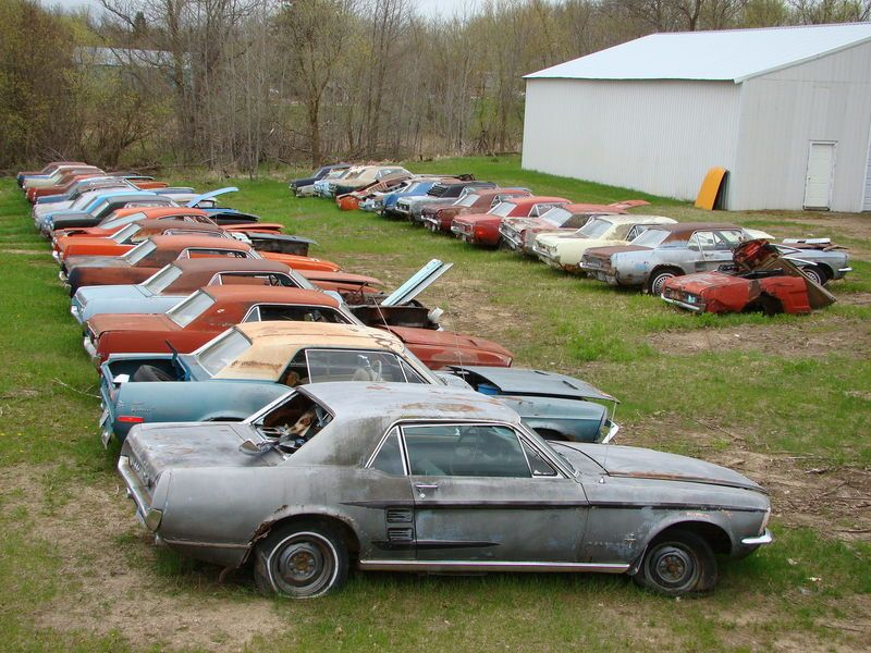 junk classic cars | Own a Mustang Junk Yard! | RustingMuscleCars.com ...