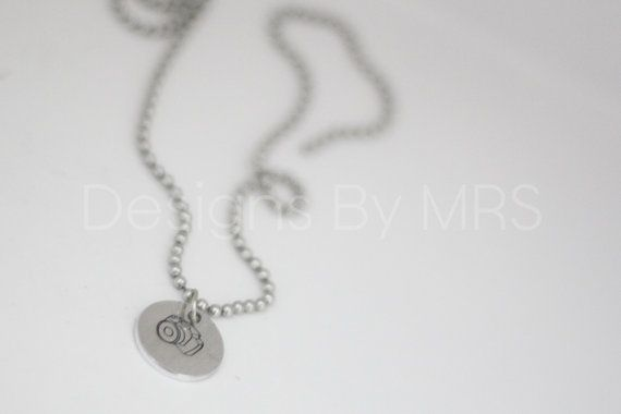 Photographer Camera Hand Stamped Necklace