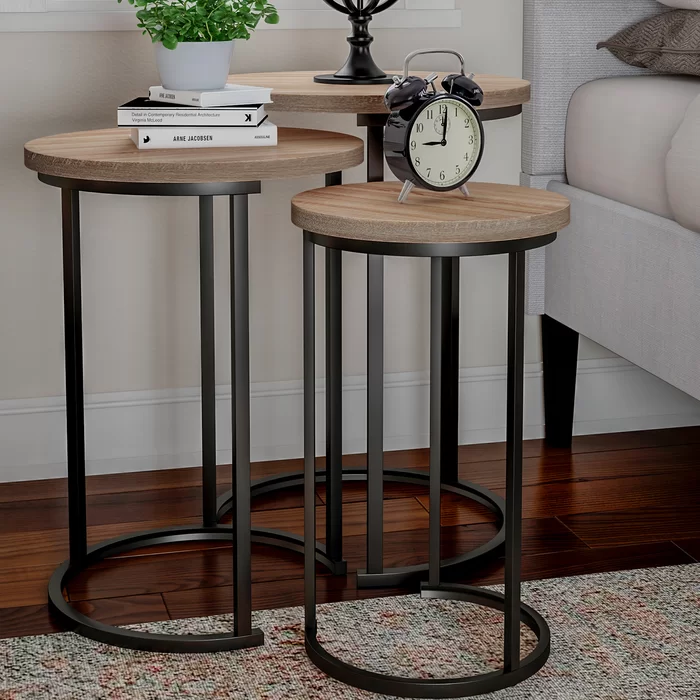 Caire 3 Piece Frame Nesting Tables In 2020 Nesting End Tables