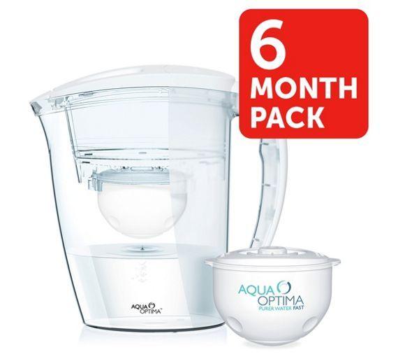 Buy Aqua Optima Galia Water Filter Jug 6 Month Pack At Argos Co Uk Visit Argos Co Uk To Shop Online For Water Water Filter Jugs Kitchen Equipment Water Jug