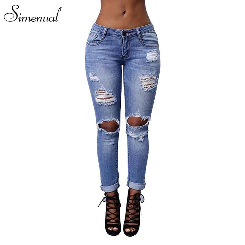 0f1f5b4bf10 New arrival 2017 vintage ripped jeans for women plus size fashion new slim  torn skinny jean