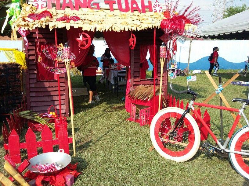 Sports Day Decoration Village House Theme Was Hari Raya A