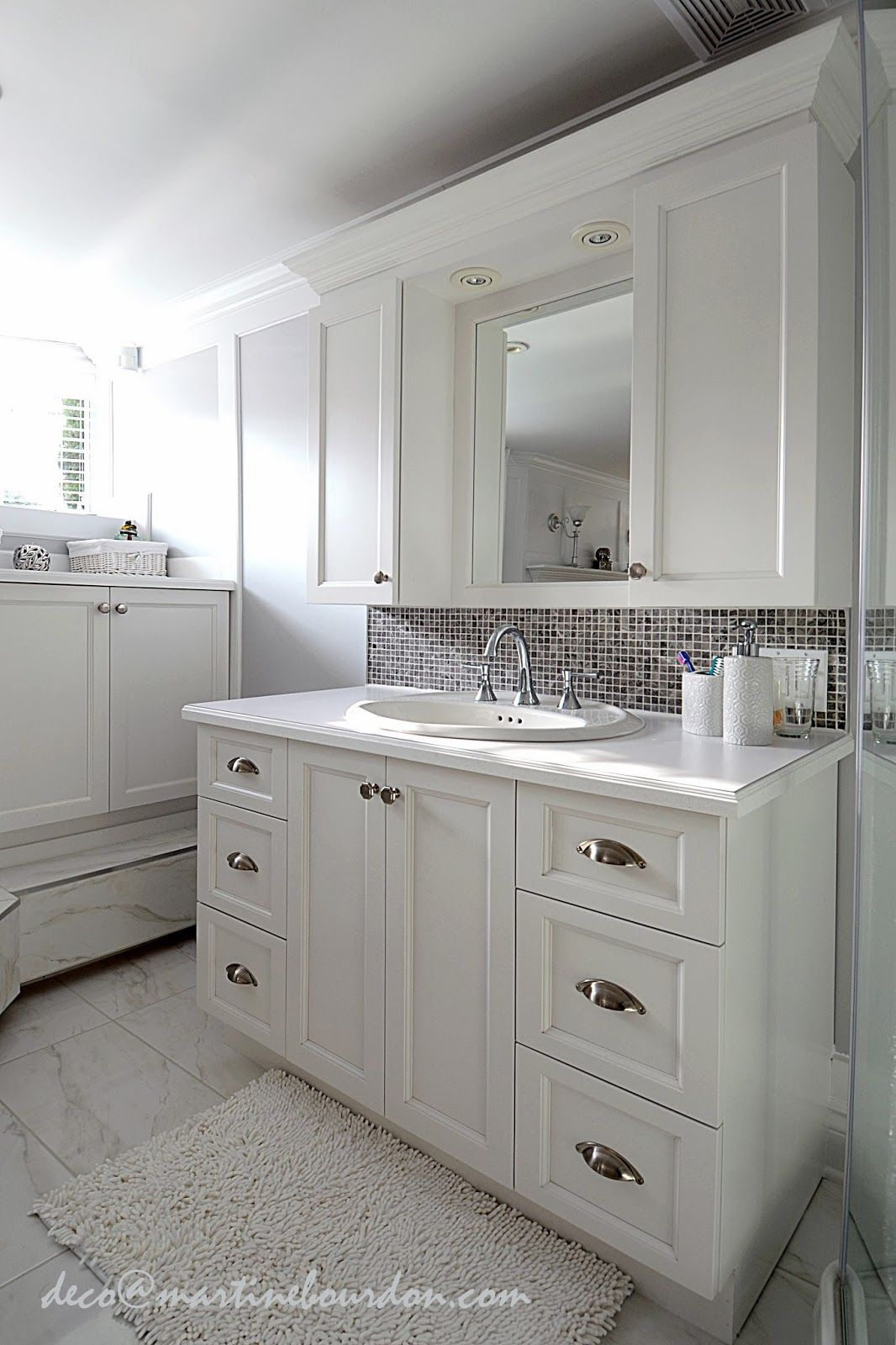 Deco Salle De Bain Blanche Et Grise ~ l espace d co beaucoup de blanc un peu de gris chambre et salle