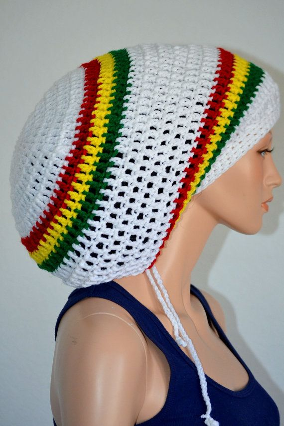 1598302c063 Crochet Rasta Tam. Unisex Dreadlocks Hat. Mega Rasta Hat.Bob