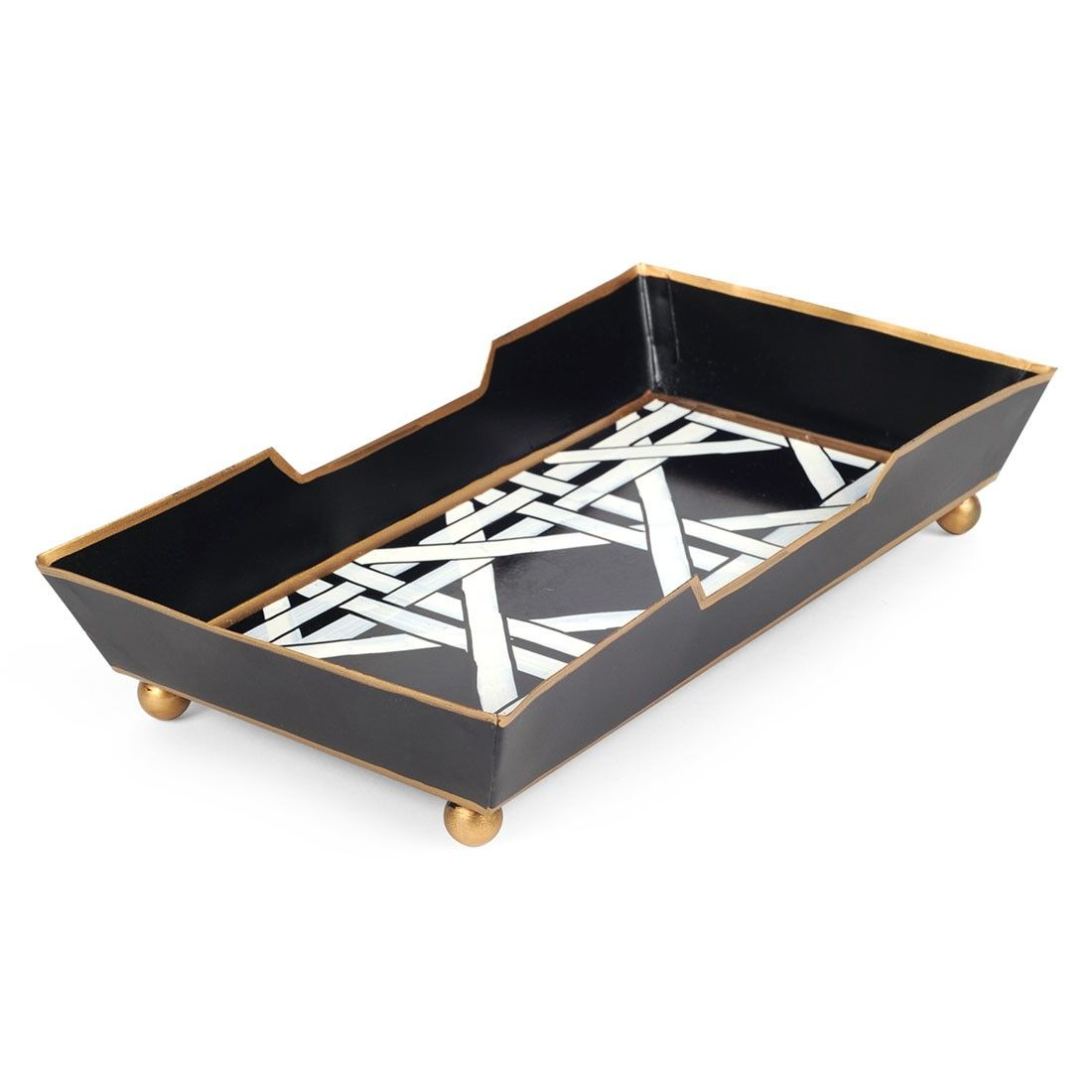 """Cane Black Guest Towel Tray Size : 5x9x2"""""""