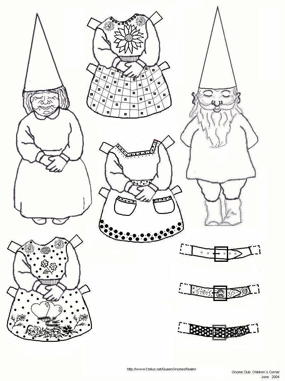 Pin By Debra Mainiero On Gnomes Paper Dolls Vintage Paper Dolls Fairy Crafts