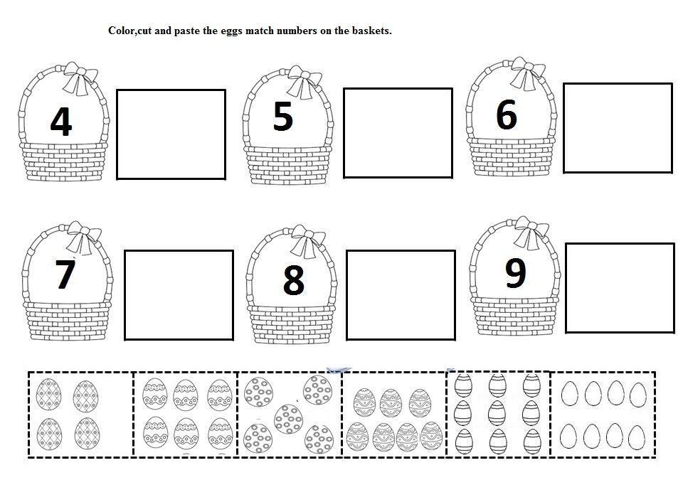 easter egg number worksheet | Crafts and Worksheets for Preschool ...