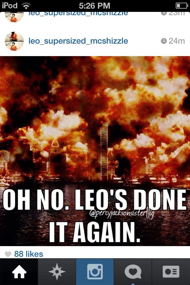 Calm down Leo. << Hun, I know you wanna see Calypso again...we all do.