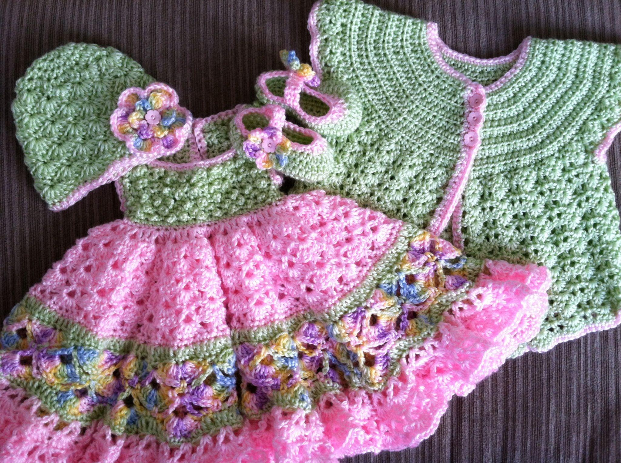 4 piece baby girl crochet set #jazzycraftycreations @ Etsy.com | My ...