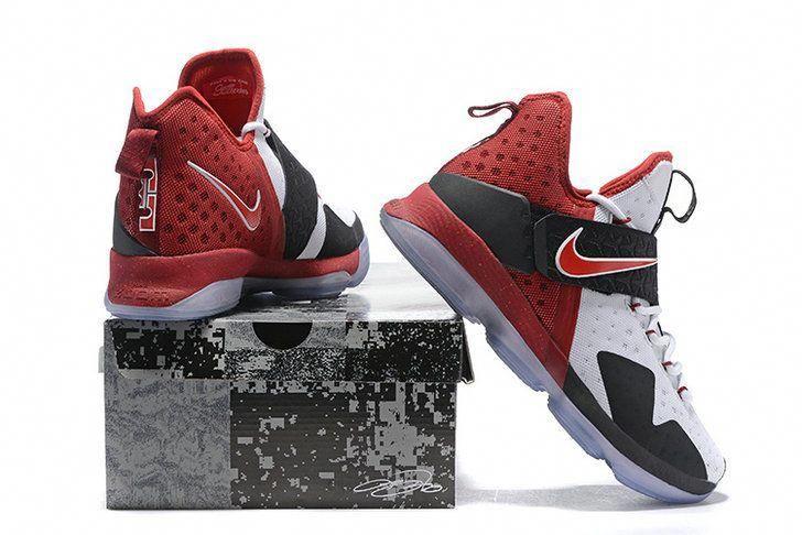 quality design aebc4 98237 New LBJ Sneakers LeBron 14 XIV Shoes 2017 White Black Sport Red   adidasbasketballshoes