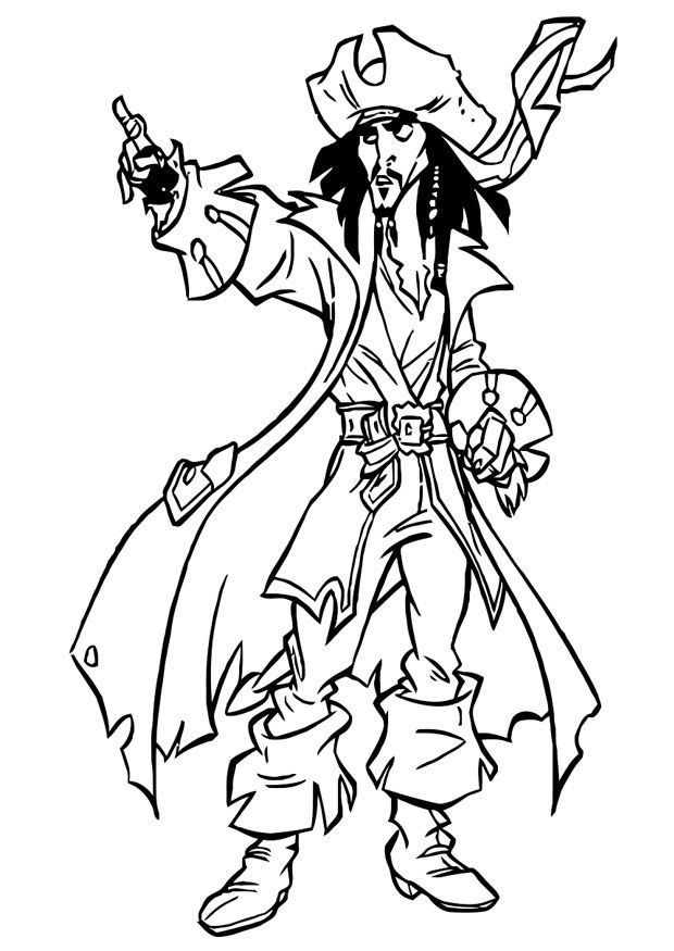 pirates caribbean coloring pages | Pirates of the Caribbean. Disney Coloring Page | Pirates ...