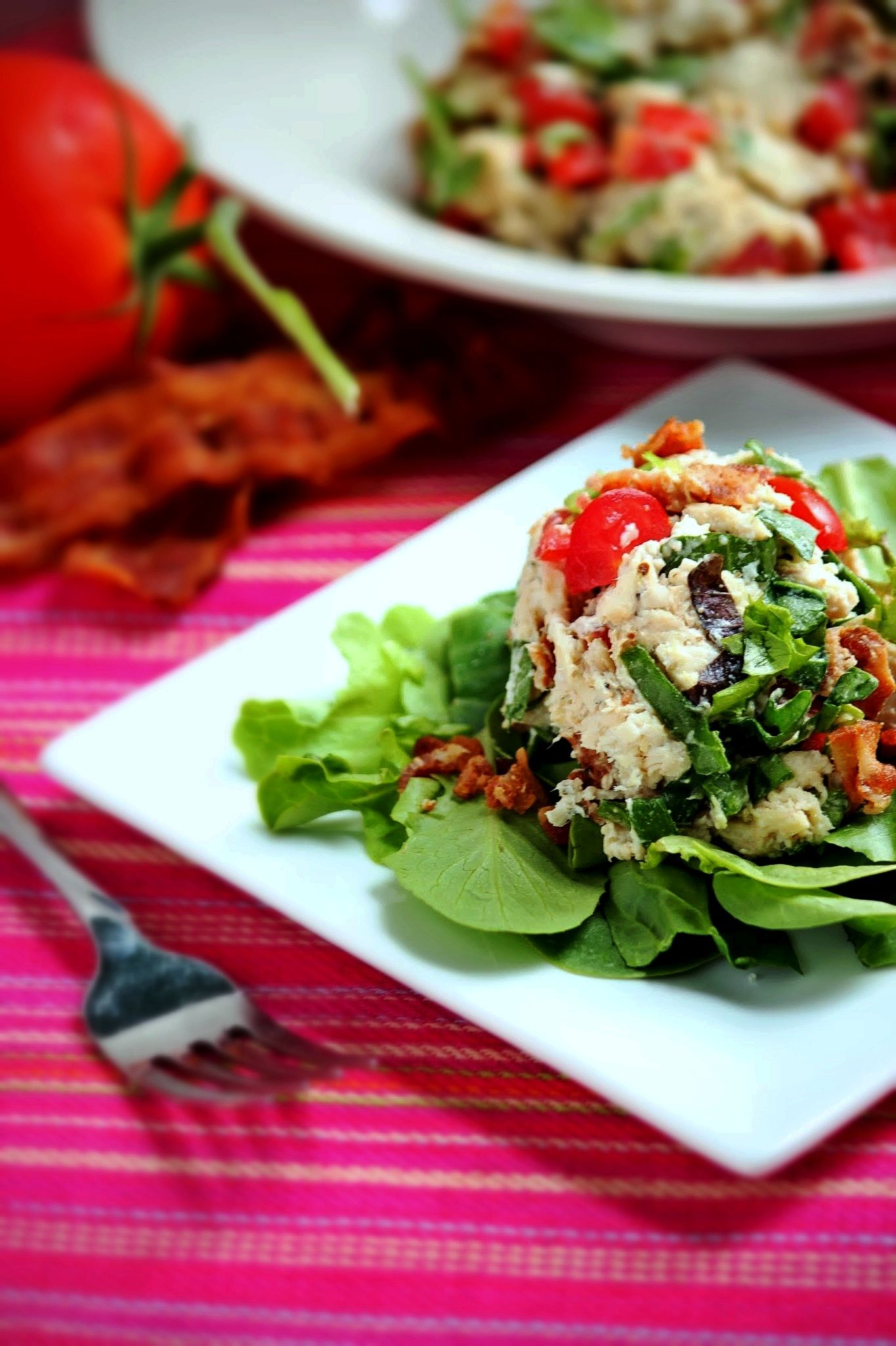 Blt chicken salad added green onions but didnt add the