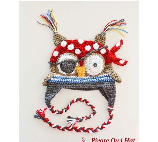 Owl crochet hat   gift ideas   Pinterest   Gorros crochet, Gorros y ...