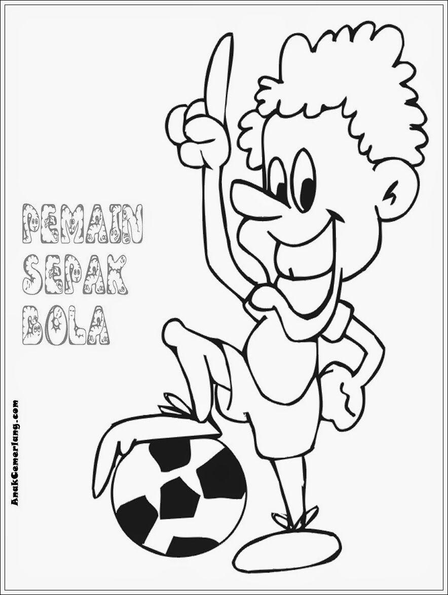 Kumpulan Gambar Kartun Bermain Bola Sepak