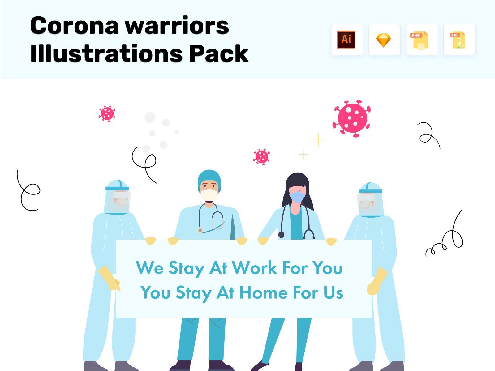 Corona Illustrations Logo Design Services Page Design Landing Page Design