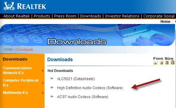 No sound in Windows 10? Realtek High Definition Audio