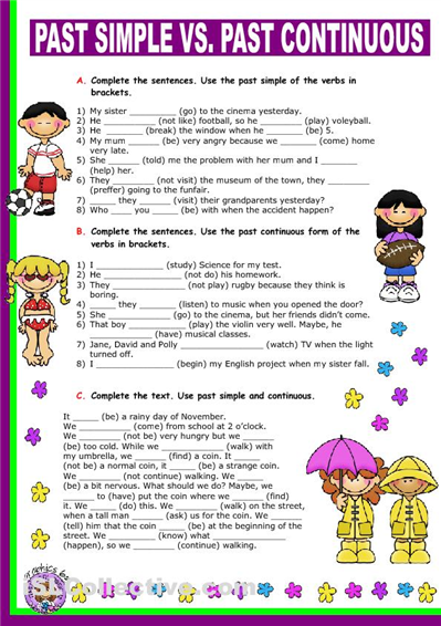 36 Awesome past continuous worksheet images | english | Pinterest ...