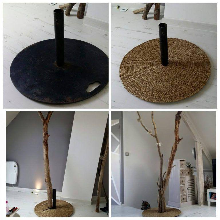 fabriquer un lampadaire en bois flott pour le salon. Black Bedroom Furniture Sets. Home Design Ideas