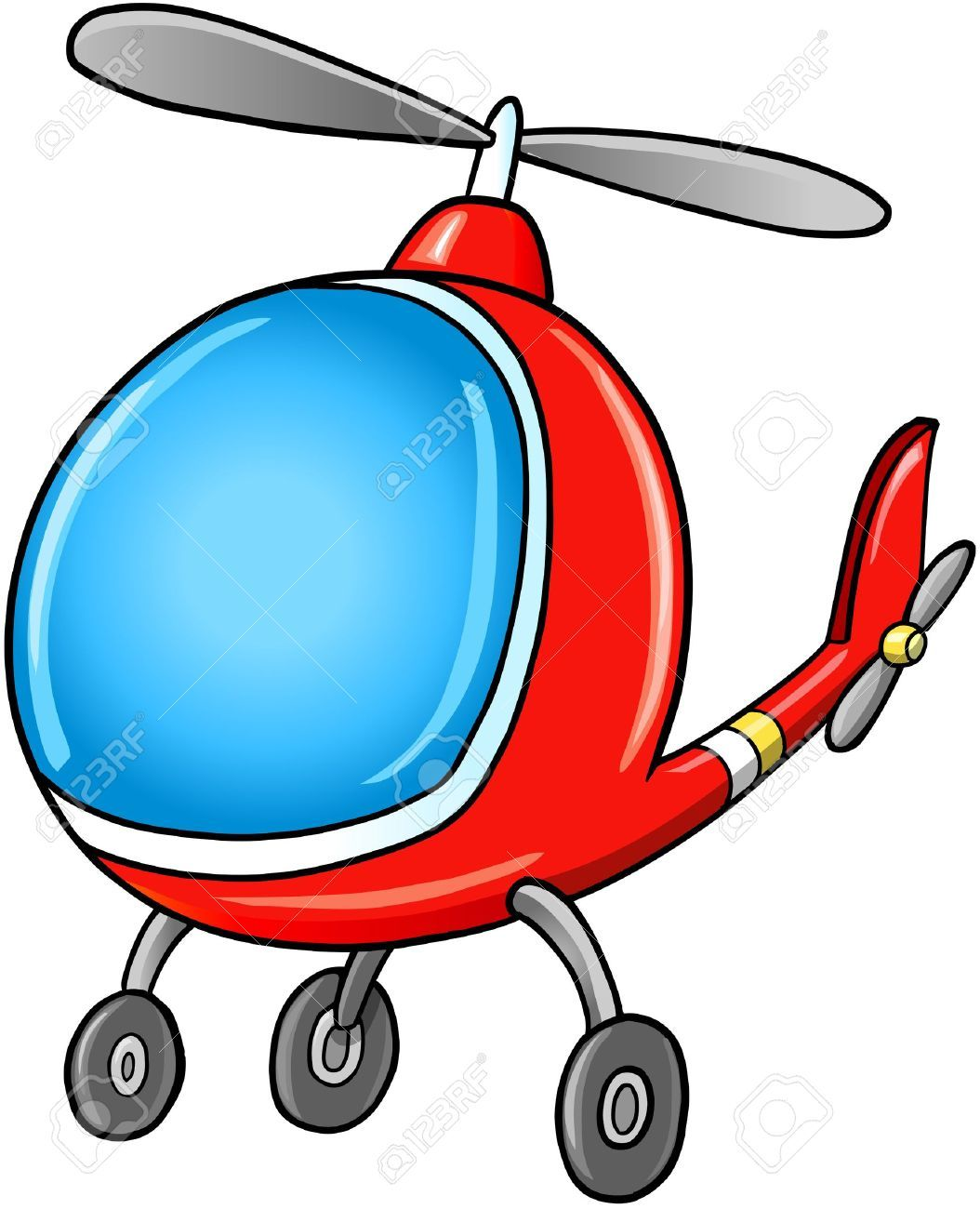 Cute Doodle Cartoon Helicopter Vector Illustration Royalty Free Cute Doodles Doodle Cartoon Bday Party Kids