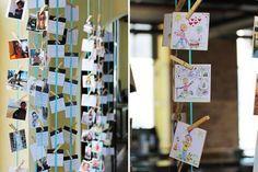 Kreative Sitzordnung mit den Karikaturen und Lieblingsbilder der Hochzeitsgäste.