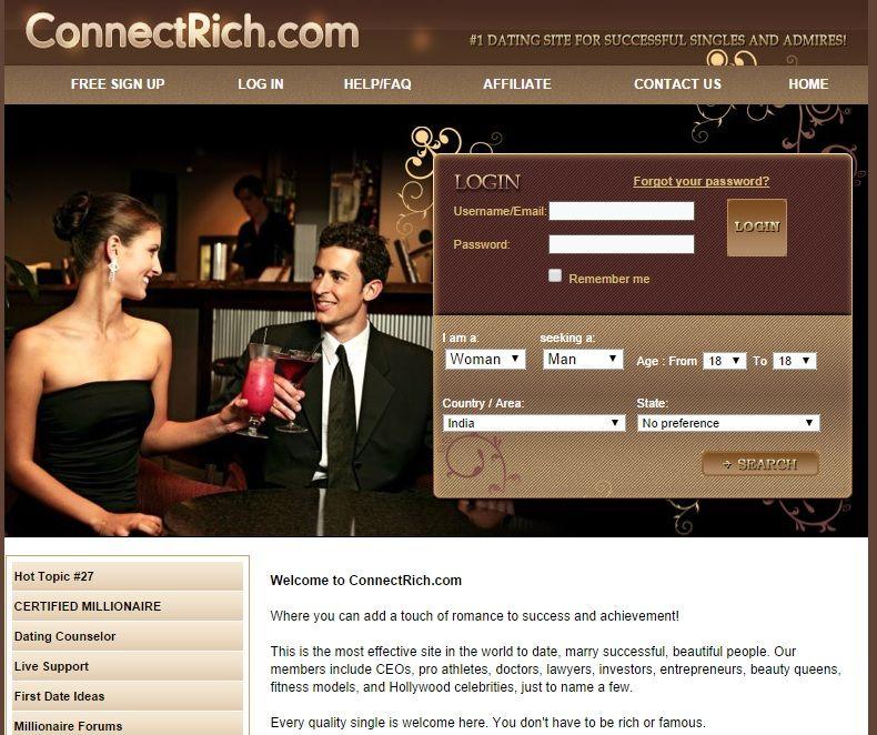 top ten millionaire dating site