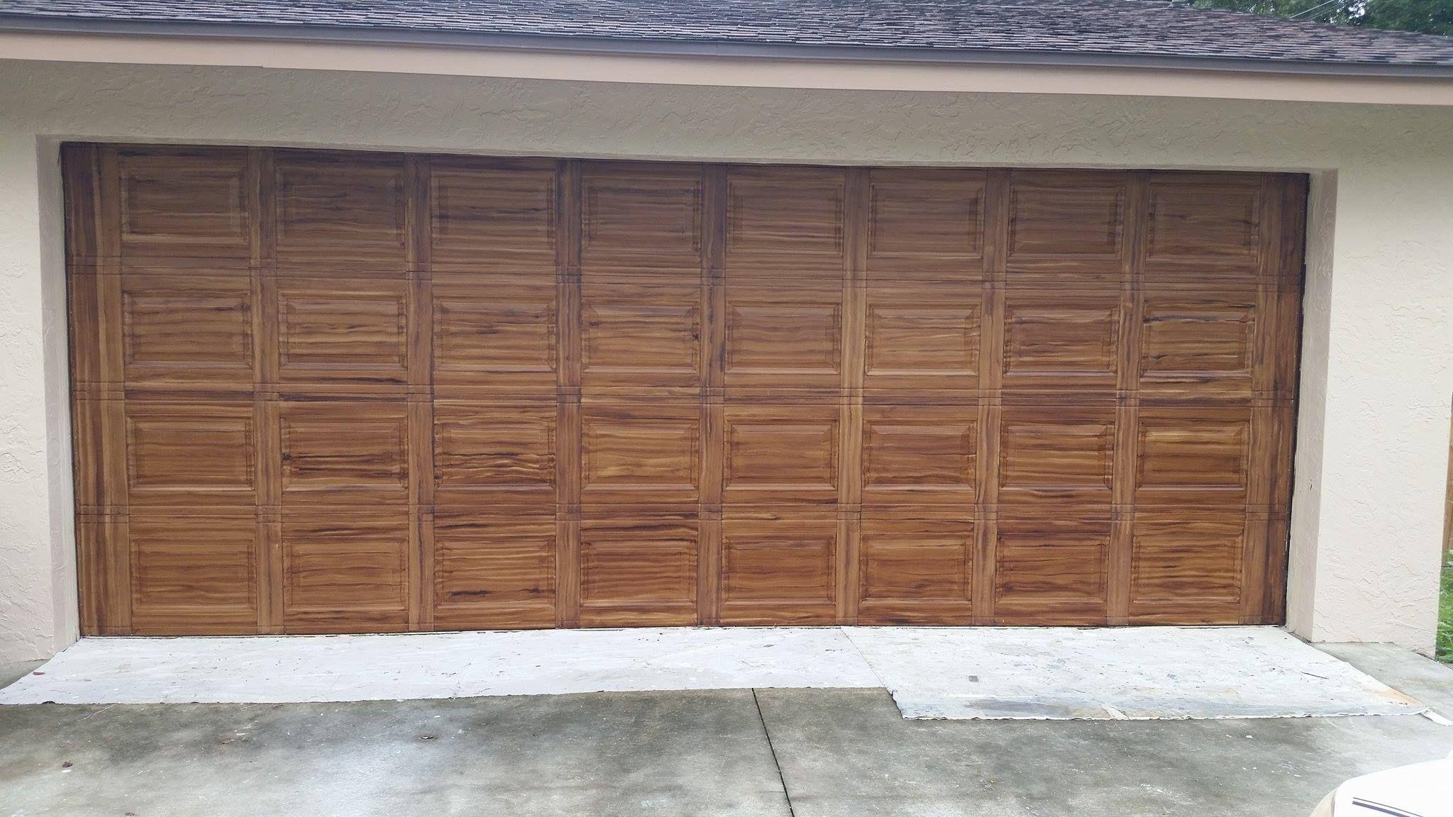 Faux Wood Garage Doors Before Hardware Faux Wood Garage Door