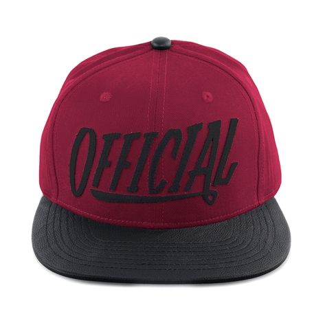 """Keep it Official with the Nation Snapback Cap from Official, featuring a canvas crown with """"Official"""" brand front felt applique, synthetic leather visor, and adjustable snapback strap for the perfect fit. Available for shipment in October; Available only at Journeys!"""