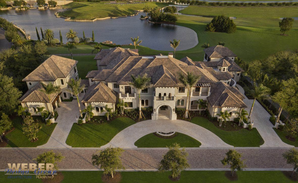 Golf Course Home Plan Photos Of This 20 000 Sq Ft Tuscan