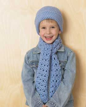 Little blue hat and scarf set scarves knitting patterns free and christmas crafts free knitting patterns free crochet patterns and more from favecrafts dt1010fo