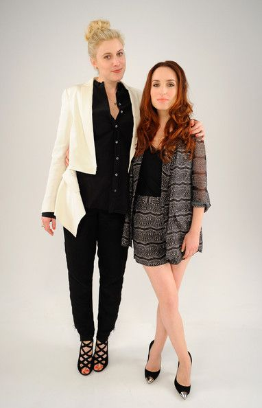 Actress Greta Gerwig and writer/actress Zoe Lister Jones of the film 'Lola Versus' visit the Tribeca Film Festival 2012 portrait studio at the Cadillac Tribeca Press Lounge on April 25, 2012 in New York City.  (April 24, 2012 - Source: Andrew H. Walker/Getty Images North America)