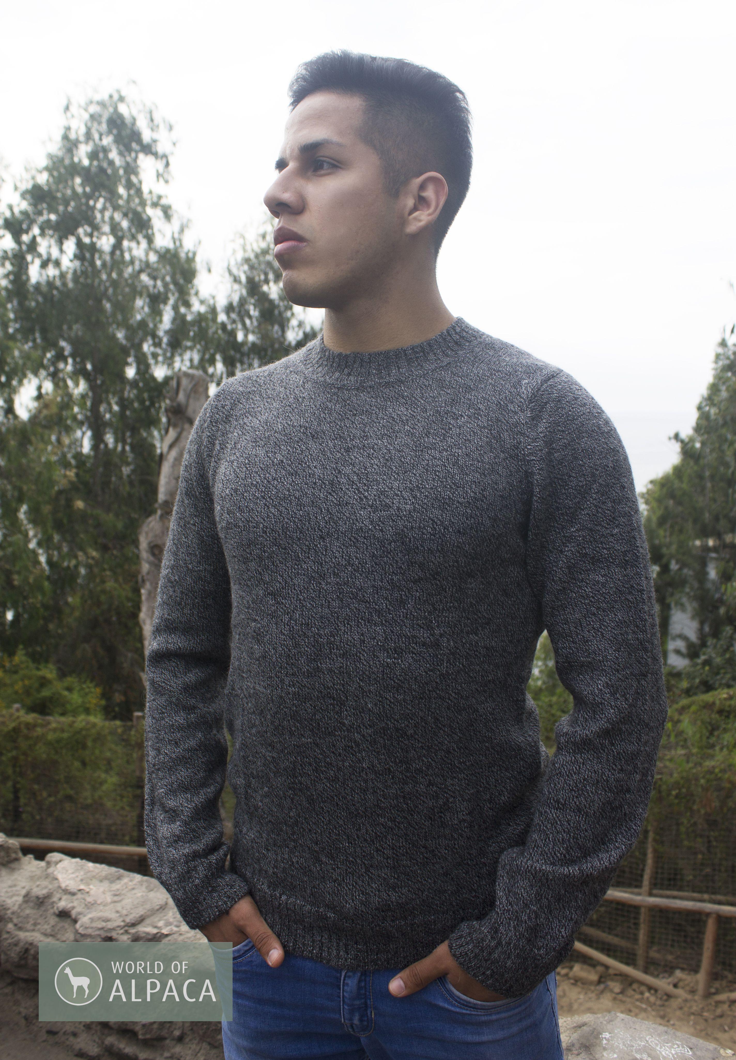 100 Baby Alpaca Wool Sweater Qenqo Men Sweater Baby Alpaca Alpaca Wool
