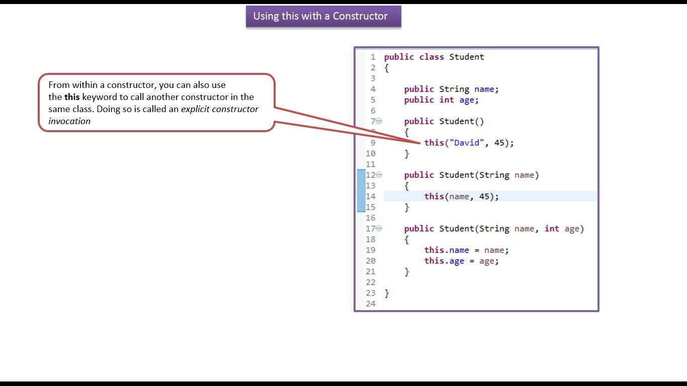 Java ee java tutorial java this keyword access constructors java ee java tutorial java this keyword access constructors baditri Choice Image