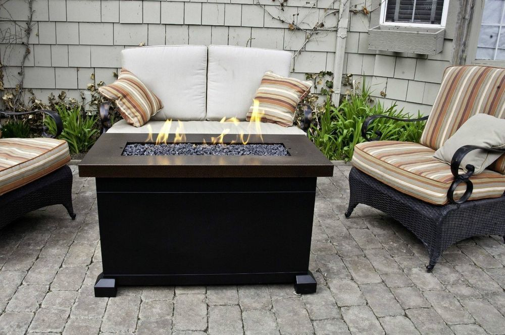 Outdoor Fireplace Gas Fire Pit Heater Back Yard Propane Patio